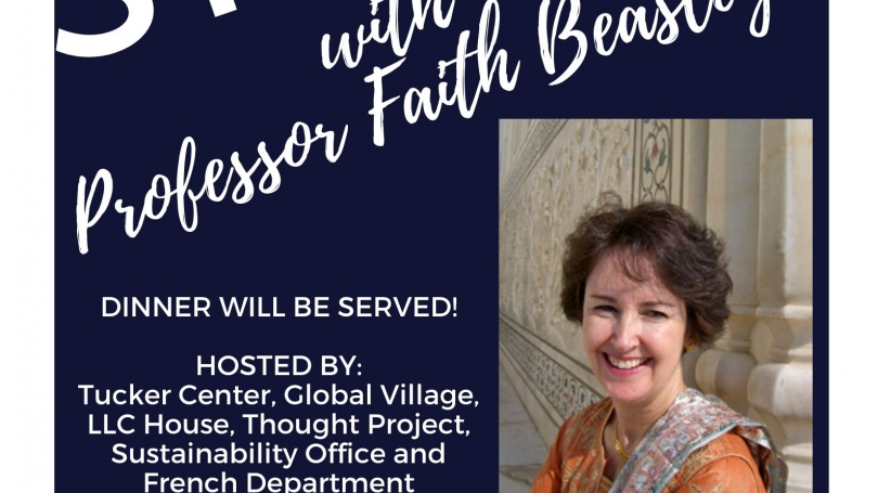 Speed Stories with Faith Beasley - Sunday, March 1 at 6pm in Occom Commons