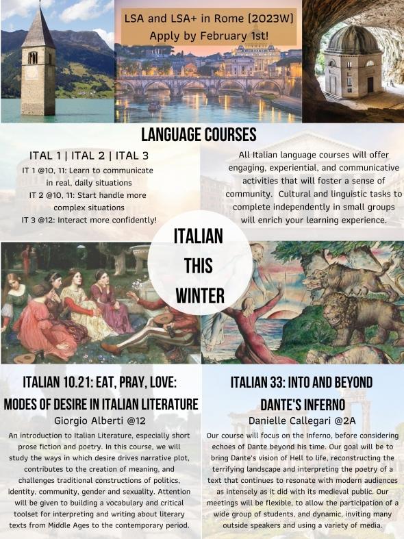Italian course w22
